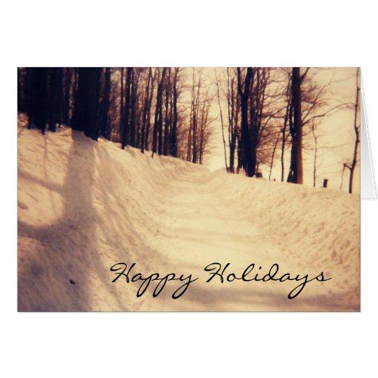 Winter White Road Card