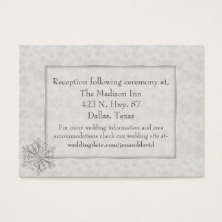 Winter White Snowflake Wedding Enclosure Card