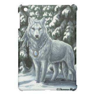 Winter White Wolf iPad Case