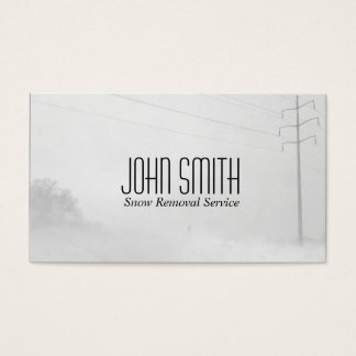 Winter Whiteout Business Card