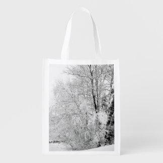 Winter Whites Reusable Grocery Bag