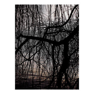 WINTER WILLOW TREE POSTERS