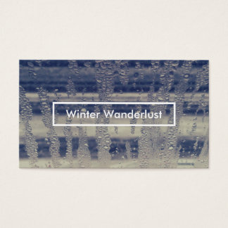 winter window business card