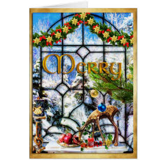 "'Winter Window"" ~ Christmas Note Card"