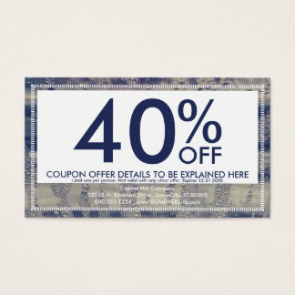 winter window coupon card