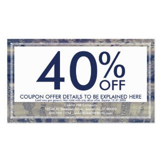 winter window coupon card Double-Sided standard business cards (Pack of 100)