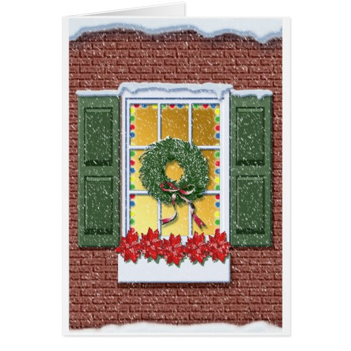 Winter Window Greeting Card