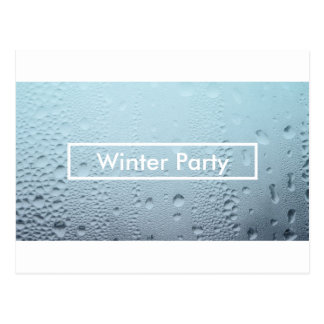 winter window party invitations postcard