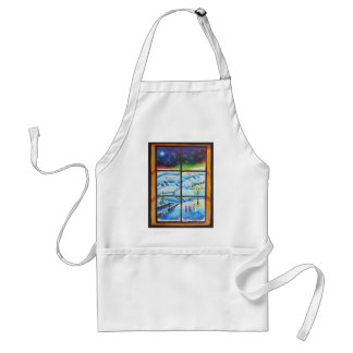 Winter Window wall mural painting by Gordon Bruce Adult Apron