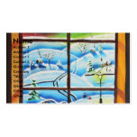 Winter Window wall mural painting by Gordon Bruce Business Cards