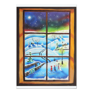 Winter Window wall mural painting by Gordon Bruce Card