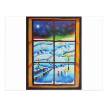 Winter Window wall mural painting by Gordon Bruce Postcard