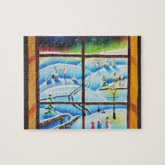 Winter Window wall mural painting by Gordon Bruce Jigsaw Puzzles