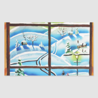 Winter Window wall mural painting by Gordon Bruce Sticker
