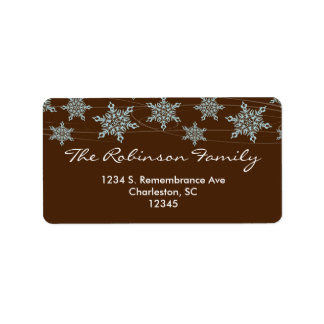 Winter Winds Christmas Address Label