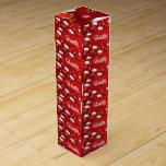 "Winter Wine Box<br><div class=""desc"">Christmas Red Stocking Background</div>"