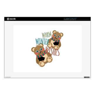"""Winter Wishes 15"""" Laptop Decal"""