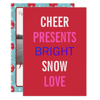 Winter Wishes Celebrate The Holidays Photo Card