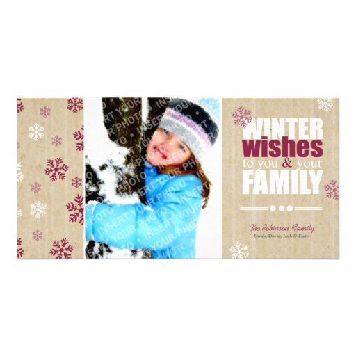 Winter Wishes | Festive Photo Card
