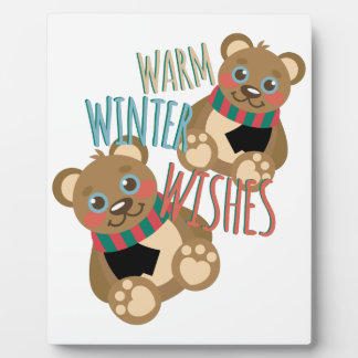 Winter Wishes Plaque