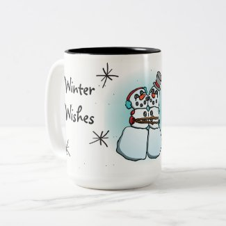Winter Wishes Snowman Mug
