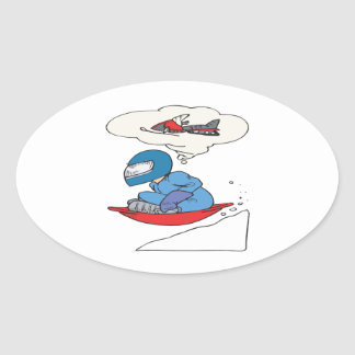 Winter Wishes Oval Stickers