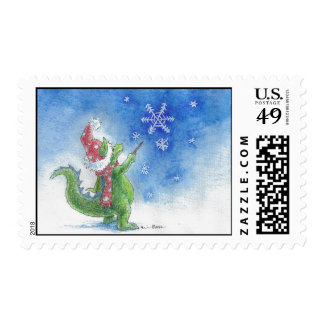 Winter Wizard Dragon Stamps