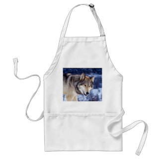 Winter Wolf 2 Adult Apron