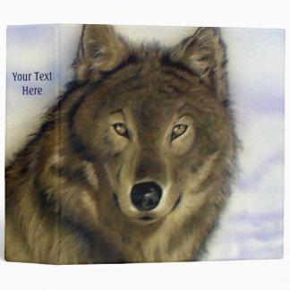 Winter Wolf 3 Ring Binder