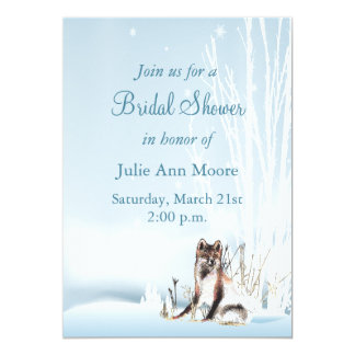 Winter Wolf Bridal Shower Card