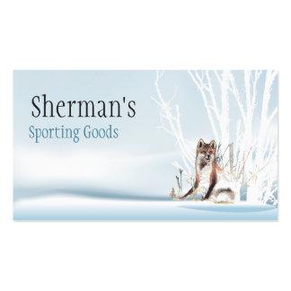 Winter Wolf Business Card Template