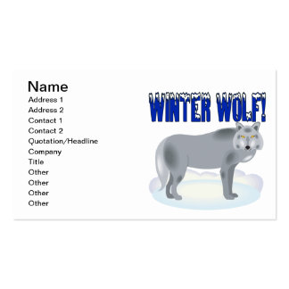 Winter Wolf Business Card