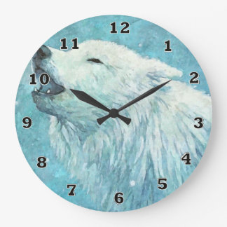Winter Wolf Clock