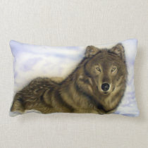 Winter Wolf Lumbar Pillow