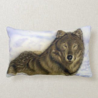 Winter Wolf Lumbar Pillow