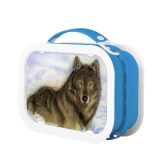 Winter Wolf Lunch Box