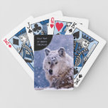 Winter Wolf Resting - Customize Bicycle Playing Cards