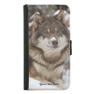 Winter Wolf Resting - Galaxy S5 Wallet Phone Case For Samsung Galaxy S5