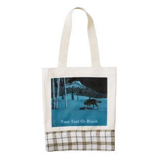 Winter Wolf - Tapetum Lucidum Zazzle HEART Tote Bag