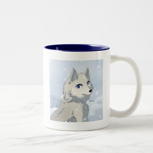 Winter wolf Two-Tone coffee mug
