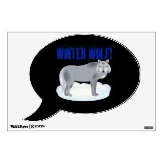 Winter Wolf Room Decal