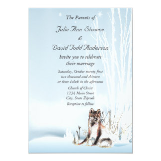 Winter Wolf Wedding Card