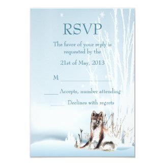 Winter Wolf Wedding RSVP Card