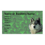 Winter Wolf with Spruce Business or Profile Card 2 Business Card
