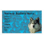 Winter Wolf with Spruce Business or Profile Card Business Card Templates