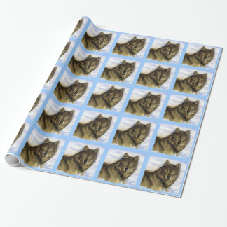 Winter Wolf Wrapping Paper