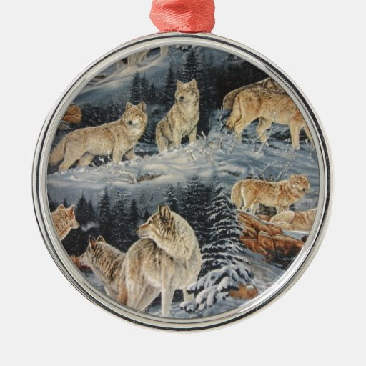 Winter Wolves Christmas Tree Ornament