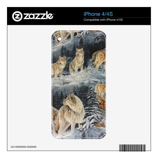 Winter Wolves Decal For iPhone 4