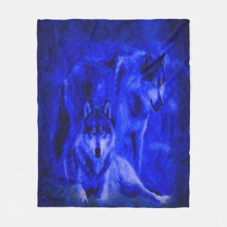 Winter Wolves Fleece Blanket