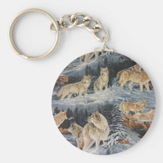 Winter Wolves Keychain